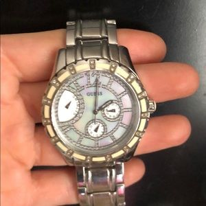GUESS womens silver watch